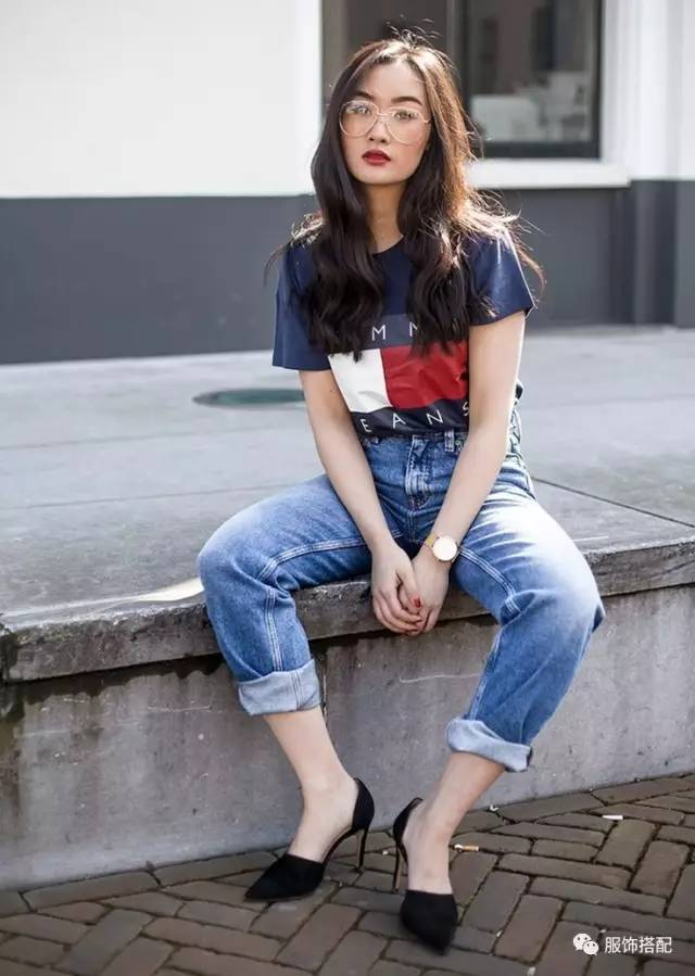 穿衣搭配|经典百搭的短袖T恤+九分裤 时尚潮流 第62张