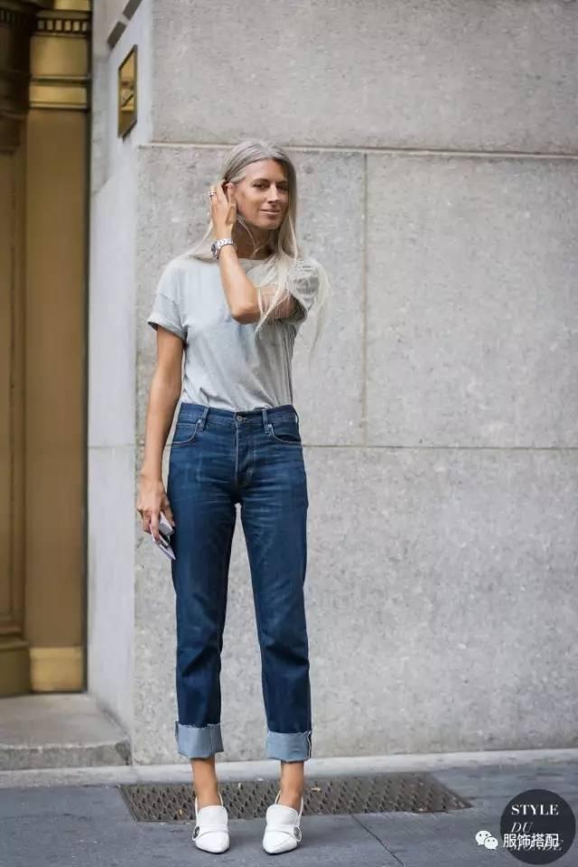 穿衣搭配|经典百搭的短袖T恤+九分裤 时尚潮流 第9张
