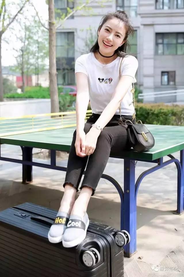 穿衣搭配|经典百搭的短袖T恤+九分裤 时尚潮流 第29张