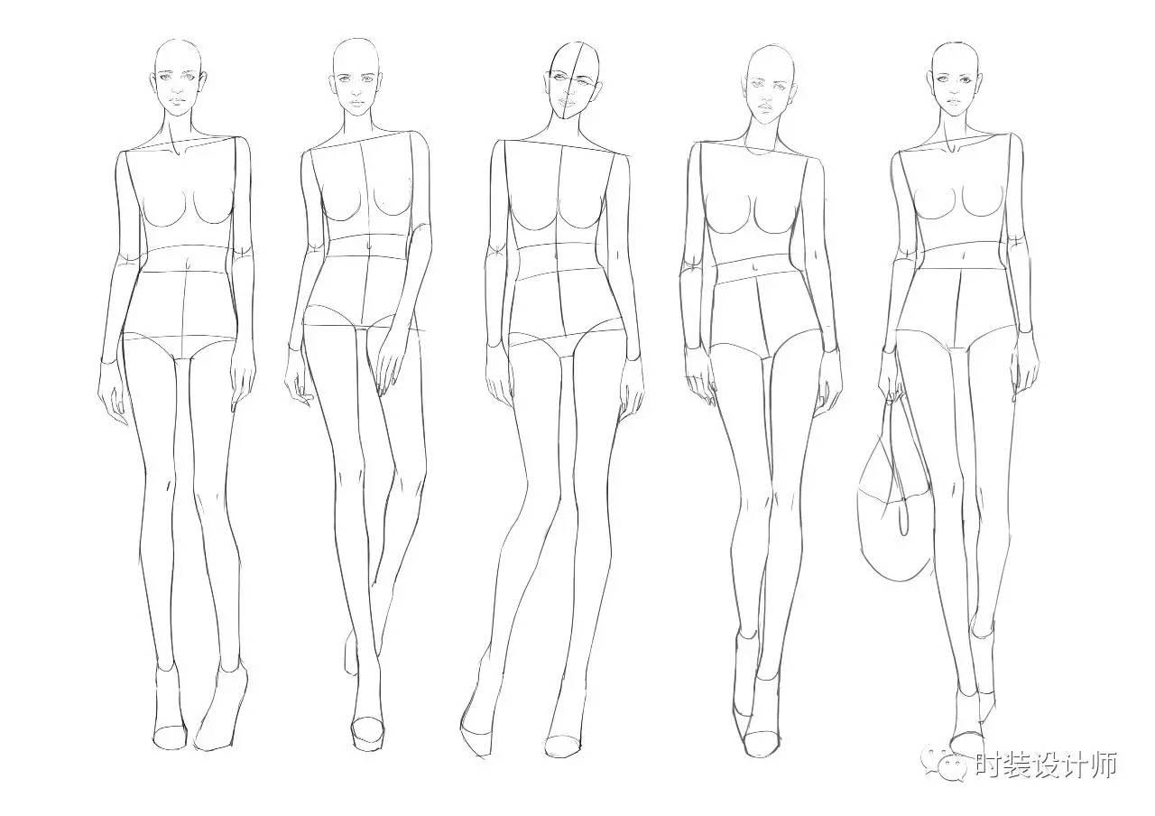人体比例_手绘干货   服用人体 服装效果图人体比例 北服考研
