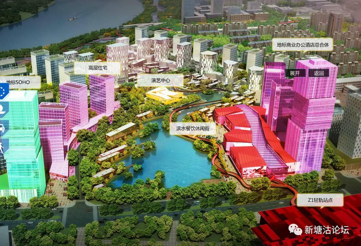 海河自由港三港 人文贴心三城设计 塘沽湾南部新城高清晰度规划大图