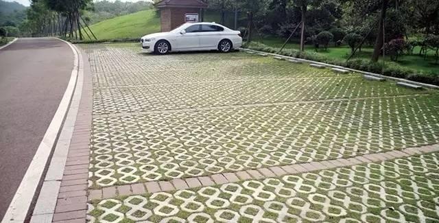 生态停车场示例-校园海绵方案设计指导