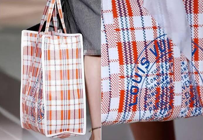 但是lv的2007春季编织袋