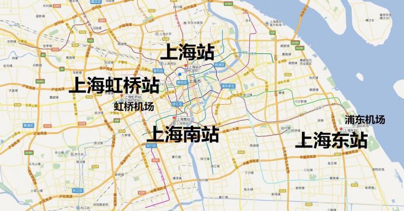 上海主力东站要来了,上海四座火车火车站终于凑详解法分治图片