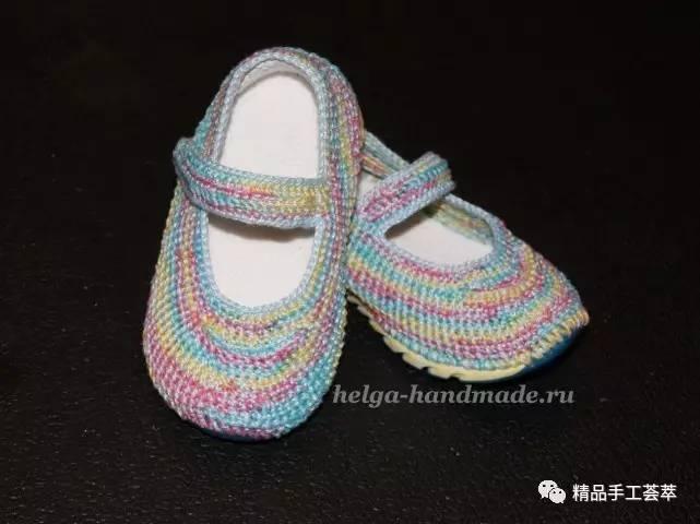 鞋底 钩针钩针宝宝鞋的方法