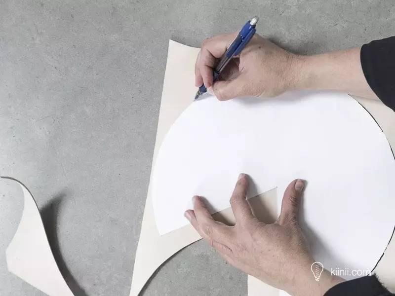 简单漂亮的皮革吊灯(皮革灯罩)diy手工制作教程图片
