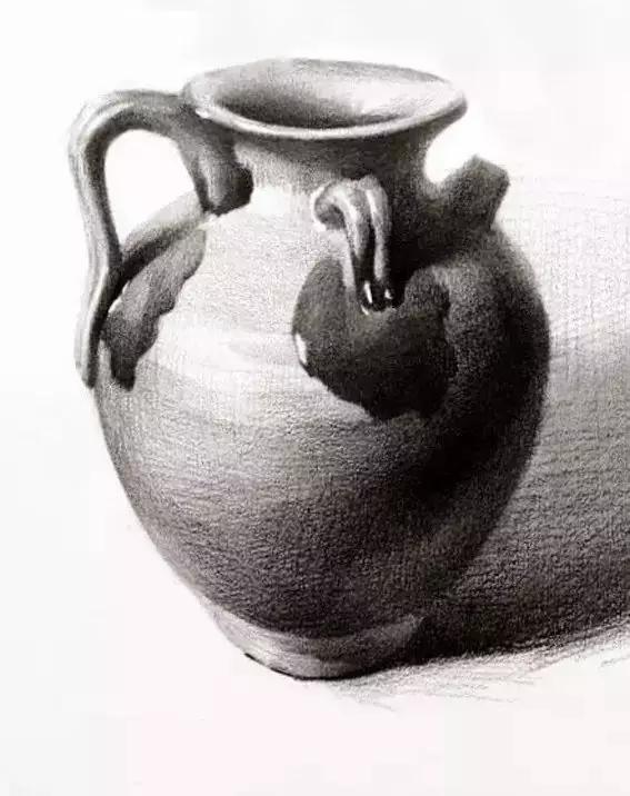 素描陶罐的画法,陶罐临摹范本图片