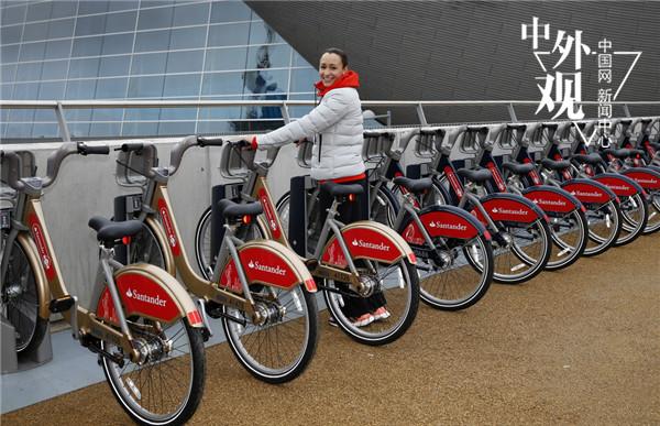 英国伦敦公共自行车santander cycles(图片:视觉中国)