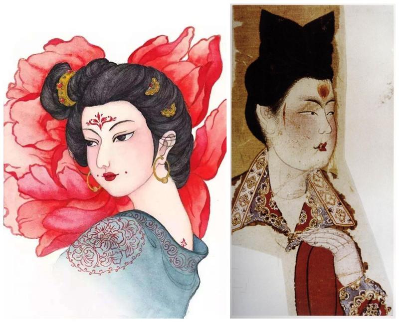 容..�.�_【古风插画】古代女子妆容:半为相貌半为容