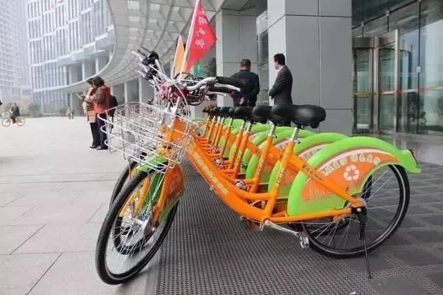 西安市公共自行车实行图片