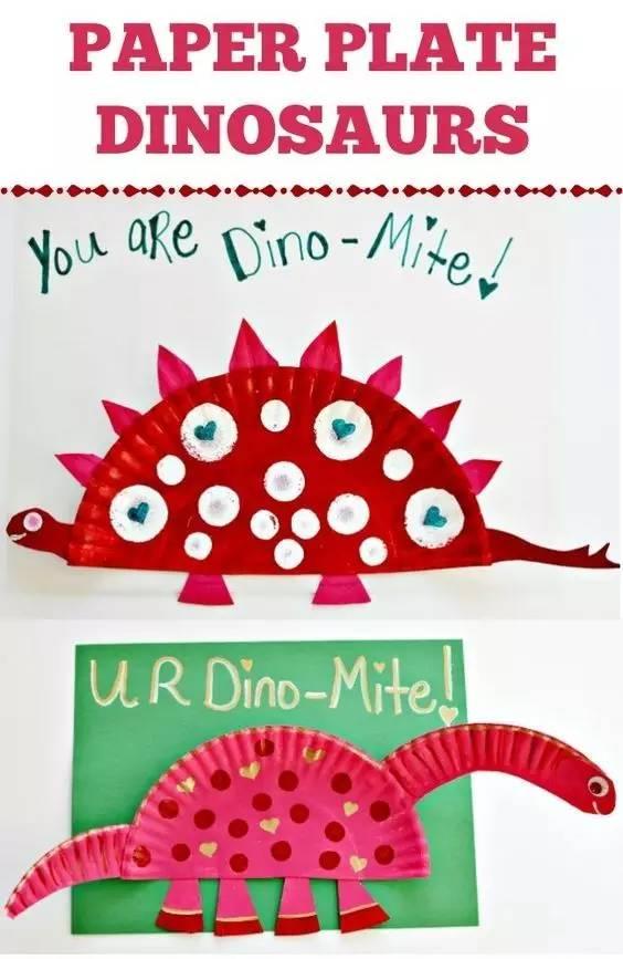 幼儿园母亲节亲子手工制作:纸盘恐龙 水族馆