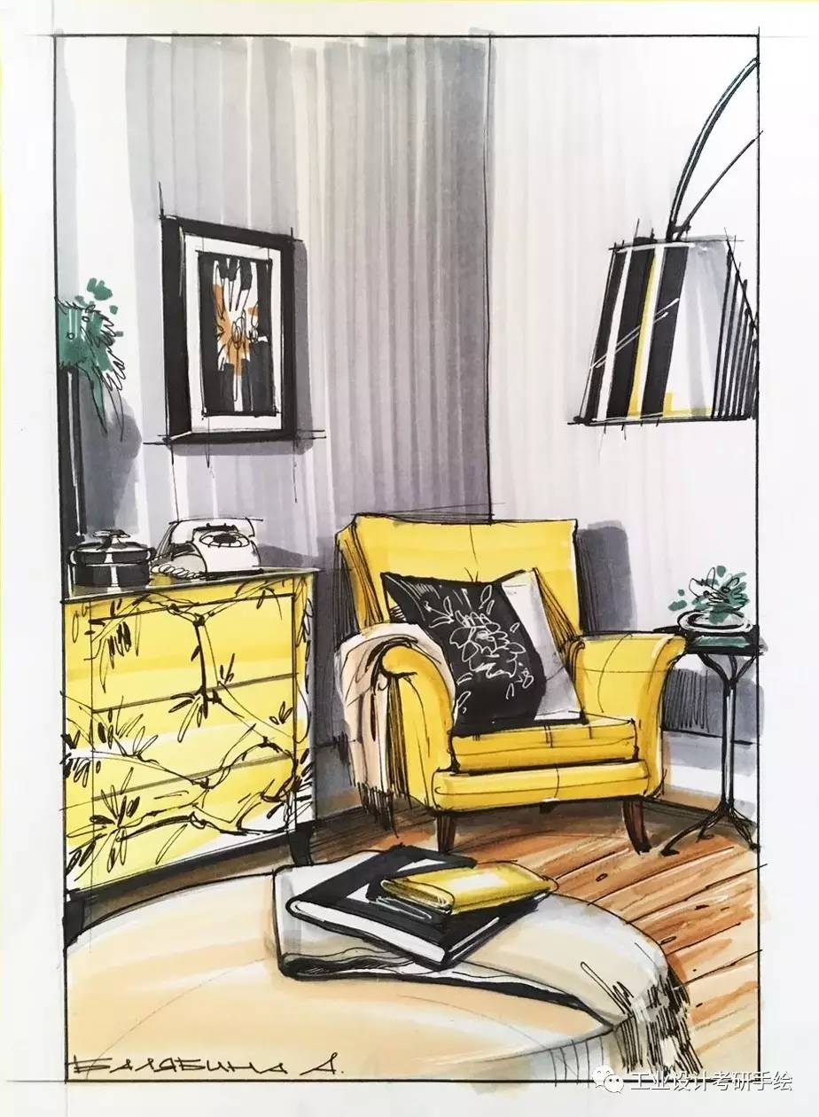 室内设计手绘图欣赏