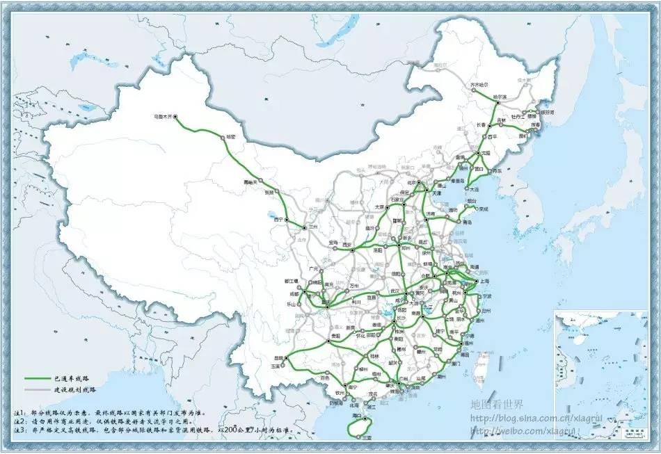 图文解析 历年中国高铁开通线路及大事件 2003 2016