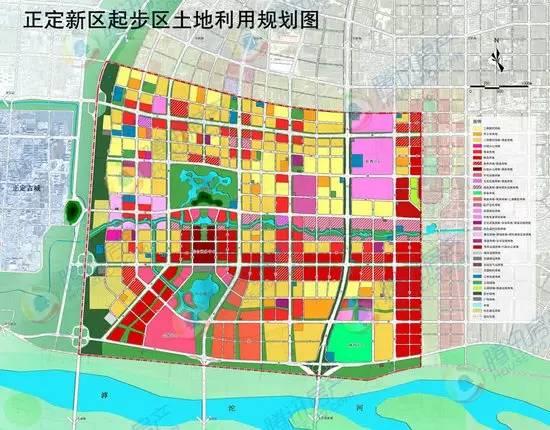 正定新区规划图最新