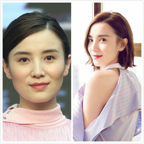 宋佳 你看刘诗诗和小宋佳直发卷发的对比就知道,服帖的直发老气又显
