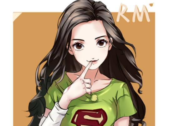 杨颖漫画图片手绘图片