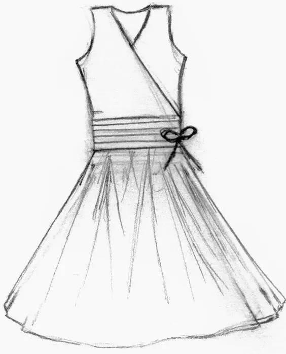 创意花瓣裙子手绘