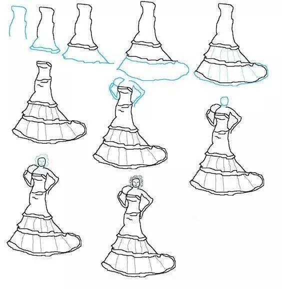 公主裙简笔画图片