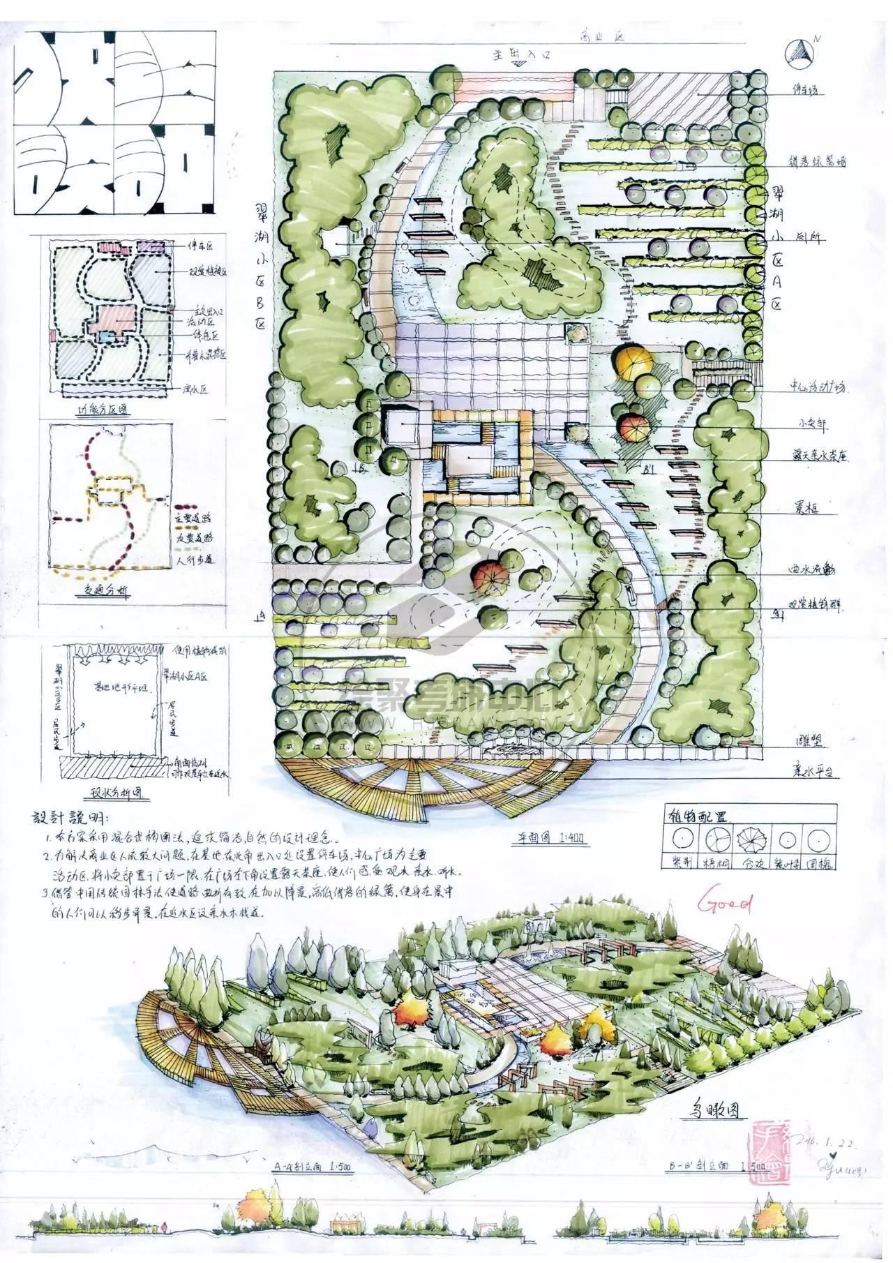 植物的种植方式多采用自然式,以自然的树丛,树群,树带来划分和组织图片