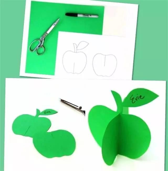 幼儿园手工之立体水果卡纸 一张纸让你大开脑洞哦
