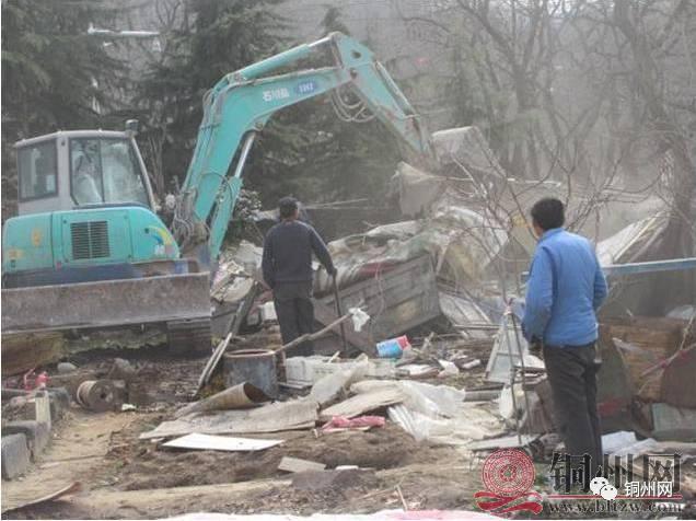 北流市国土资源局拆除塘岸,民乐,白马,隆盛,石窝,新圩镇的违建物