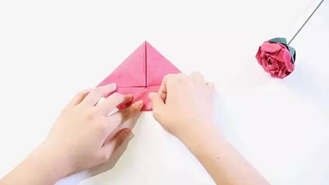 玫瑰的折法 图解 步骤
