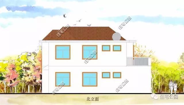 4X10米2层农村别墅,20万造价,含平立面图
