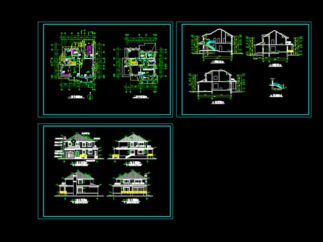 农村自建房设计图 二层独栋别墅施工图+效果图,本户型是二层独栋图片