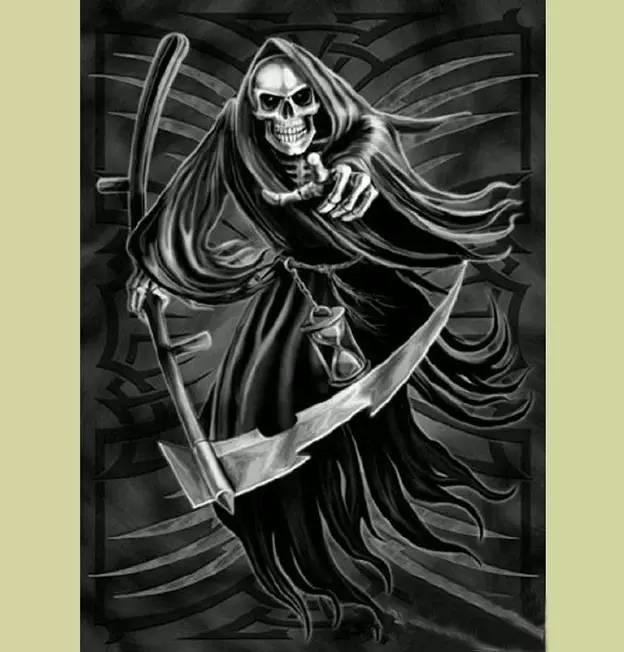 死神纹身手稿图片