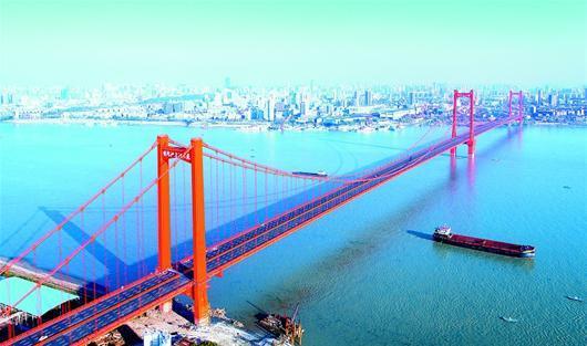 鹦鹉洲长江大桥图片
