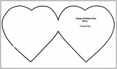 2,u形虚线部分剪开,交叉到一起,心形的图案就出来了图片