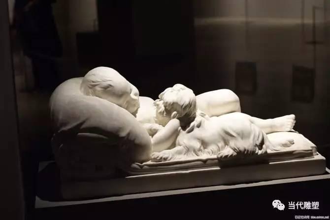 汉白玉裸体人体雕塑小婴儿