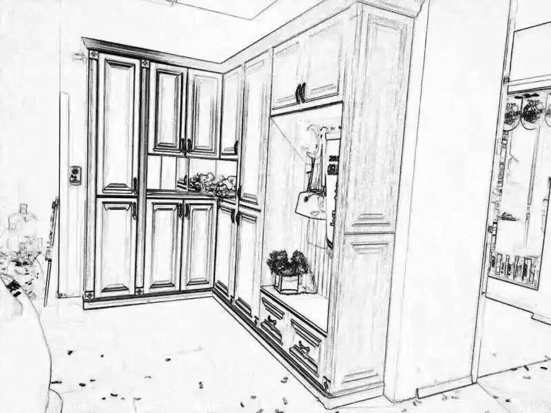 手绘衣柜图纸怎么画