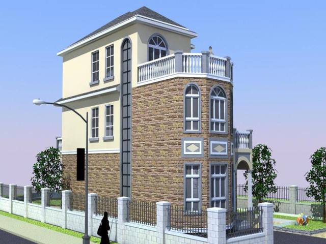 30万经济型三层农村别墅自建房 附建筑图和效果图