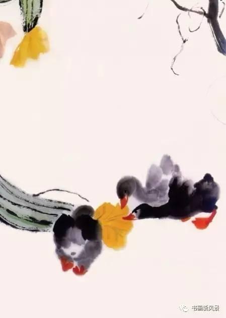 娄师白画的小鸭子,越看越可爱