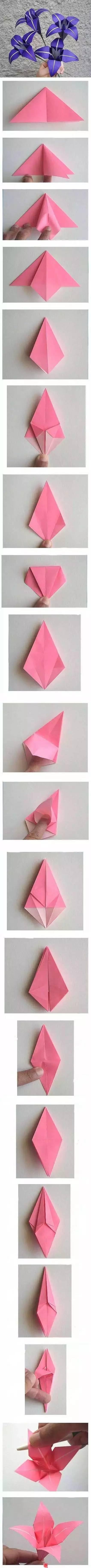 儿园母亲节手工折纸花教程图片
