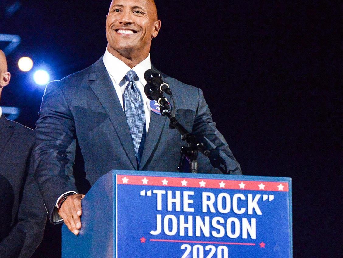 """""""巨石""""强森真打算竞选美国总统了?2020年参选?"""