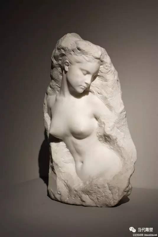 汉白玉裸体人体雕塑半身像