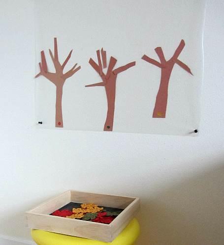 少儿美术课程:秋天的树