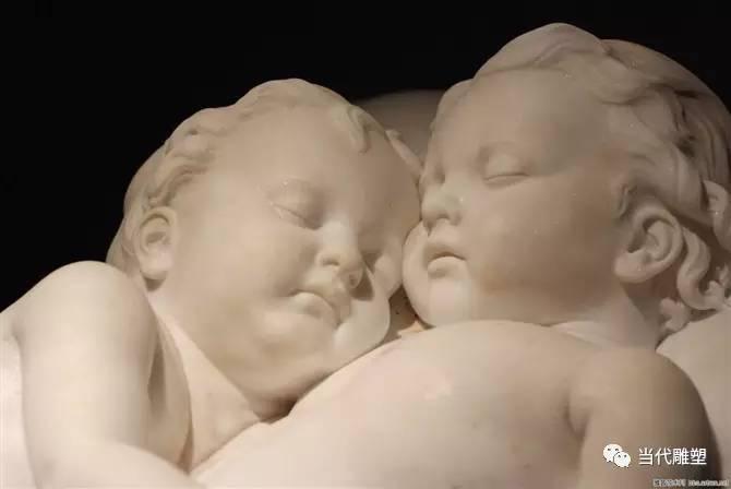汉白玉裸体人体雕塑小婴儿肖像