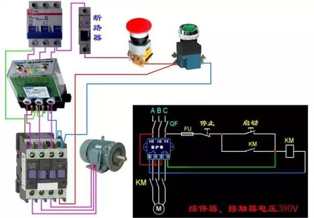 图解 电动机电气控制电路接线图图片