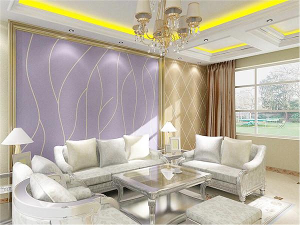 硅藻泥背景墙之沙发背景墙装修效果图