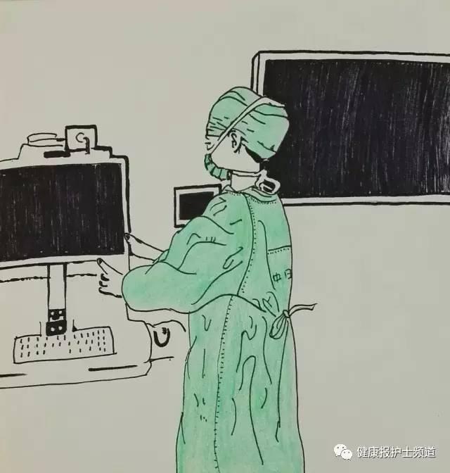 漫画|护士用画笔记录手术室的温度和厚度图片