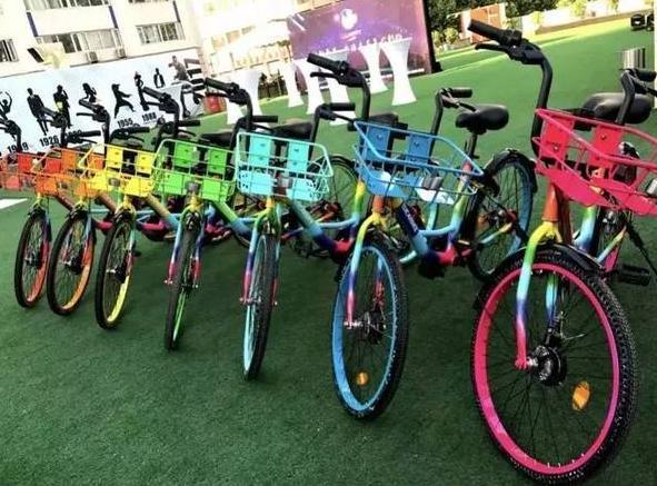 """共享单车进化出""""彩虹款""""也是一种推广!"""