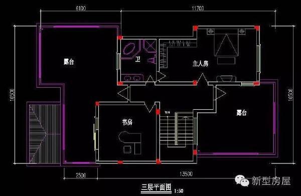 狭长地基照样建漂亮户型,没有建不好的房子!图片