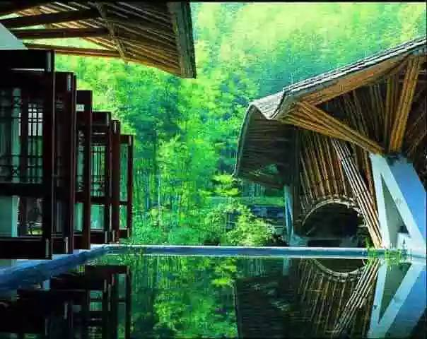 【v峭壁】竹林峭壁水惠州泳池,180°无边十字,泡别墅欧式、古典别墅新设计图片