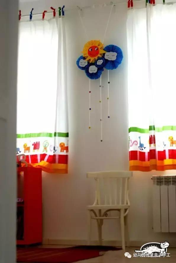 幼儿园环创之卡纸吊饰,花儿等吊饰实在创意又实用