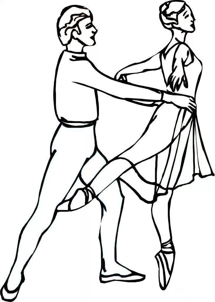 画出舞蹈中的自己 舞蹈简笔画收藏