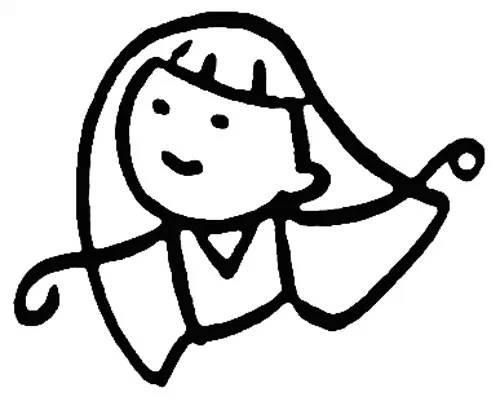 女孩身体简笔画