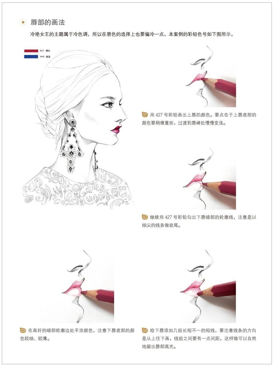 时尚插画手绘女王头像详细教程示范